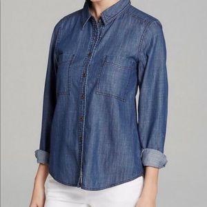 Eileen Fisher Denim Chambtay Shirt S